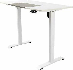 Height Adjustable Standing Desk T-Shaped Office Desk Electric Adjustable (Grey)