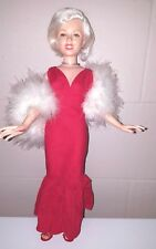 "1983 Marilyn Monroe 18"" Starlight Debut Red Gown with Maribou Boa World Doll"