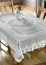 Monica Lace Tablecloths in White & Cream 6 sizes, Beautiful Item