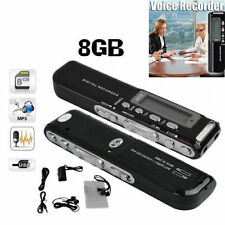 8Gb 650Hr Usb Lcd Screen Digital Audio Voice Recorder Dictaphone Mp3 Player Oy
