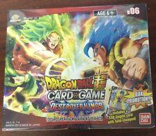 BANDAI Dragon Ball Super Tcg Juego De Cartas-DESTROYER KINGS B06 Booster Caja Sellada
