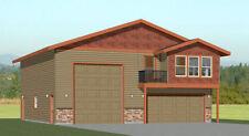 40x42 Apartment with 2-Car 1-RV Garage - PDF FloorPlan - 1,153 sqft - Model 1A