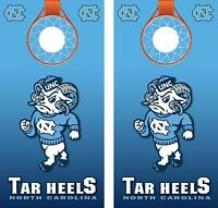 UNC North Carolina Tar Heels Basketball Cornhole Board Decal Wrap Wraps