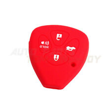 Red Silicone Key Shell Cover 4 Buttons for Toyota Camry Avalon Corolla Matrix