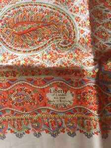 """vintage liberty of london floral print silk scarf 27"""" square"""