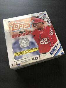 2021 Topps Series 1 Baseball Sealed Jumbo Box 16 Packs 256 Cards. New. Fast Ship