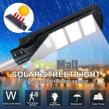 9900000LM Commercial LED Solar Street Light PIR Sensor Dusk-to-Dawn+Remote+Pole