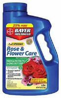 (2) NEW BAYER 5 LB 2 IN 1 ROSE & FLOWER CARE 8 WEEK SYSTEMIC PROTECTION 701100A