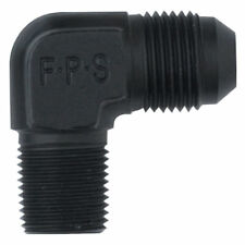 "Fragola 482210-BL Alum 90 Degree AN To NPT Pipe Thread Adapter -10 AN 1/2"" Black"
