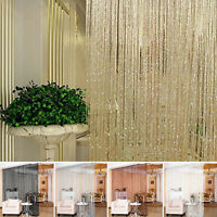 Modern Glitter String Curtain  ~ Fly Screen & Room Divider ~ Voile Net Curtains