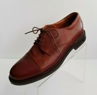 Johnston Murphy Oxfords Cap Toe Mens Brown Leather Lace Up Shoes Italy Size 11.5