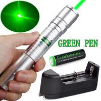 Military 900Mile Green 532nm Laser Pointer Pen Visible Beam Light +18650 Battery