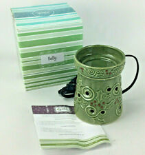 Holiday Green HOLLY Full Size SCENTSY Warmer - Retired - New in Box