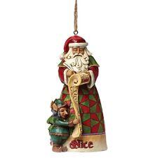 Jim Shore Heartwood Creek Naughty Nice Santa Christmas  Hanging Ornament