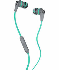 Skullcandy Ink'd 2.0 Mint/Grey Earbud In-Line Mic NO BLISTER PACK SAVE ON POST