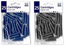 New Professional Black/Blue Universal Fountain Pen Ink Cartridges Office/School