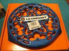 "Le Creuset Enameled Cast Iron Cookware 9"" Deluxe Round Trivet Marseille Blue"