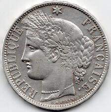 GOUVERNEMENT DE LA DEFENSE NATIONALE 5 Francs Oudiné sans légende 1870 Bordeaux