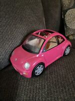 2000 Mattel Barbie Doll Volkswagen VW Hot Pink Beetle Car Bug