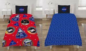 NASA ISA Mission's Single Duvet Cover Reversible Bedding Set Space Shuttle