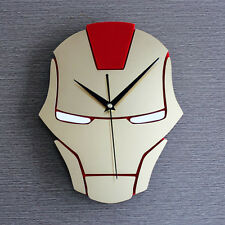 Hero Iron Man Fashion Creative Wall Clock 3D Watch Kids 12""