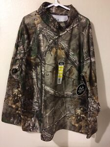 Realtree Xtra Men's Fleece Lined Performance Camo 1/4 Zip Jacket 2XL (50-52)