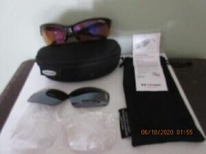 Tifosi Tyrant 2.0 Cycling Sunglasses Black Frame w/ Orange, Gray, & Clear Lenses