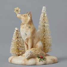 Foundations*MINIATURE VIGNETTE FOX FIGURINE*New*NIB*Snowflake*WINTER*4053527