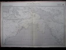 """1970 North Australia e Asia del sud AMMIRAGLIATO NAUTICO MARE Mappa grafico 28"""" x 41"""" B36"""