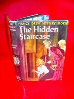 NANCY DREW #2 THE HIDDEN STAIRCASE By Carolyn Keene tweed w/DJ