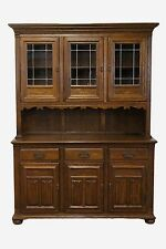 ETHAN ALLEN Royal Charter 56″ Buffet w/ Leaded Glass China Cabinet 220  Finish