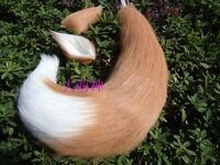 Japan Anime Spice and Wolf Holo fox ears and tail Set plush cosplay prop 65cm