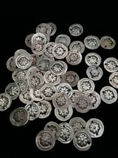 25 Small Tribal Amulets Medallions with Floral Motif (Style 1)