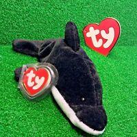RARE Ty Beanie Baby 1993 Original 9 Splash The Whale 1st Gen Tush 2nd Swing MWMT