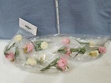 Floral Garland Floating Decor Pink Ivory Flowers The Bloom Room Artisan Unopened