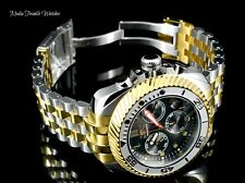 Invicta 50mm JT GEARHEAD Ltd Ed Quartz Chronograph Gold Two Tone Bracelet Watch