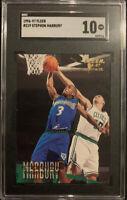 Stephon Marbury 1996 - 1997 Fleer Rookie RC Timberwolves SGC GEM 10 LOW POP 📈
