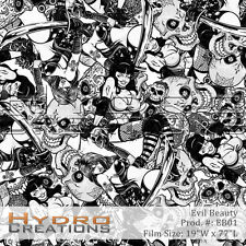 HYDROGRAPHIC FILM FOR HYDRO DIPPING WATER TRANSFER FILM EVIL BEAUTY