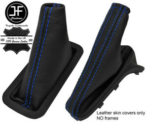BLUE STITCH FITS HOLDEN ASTRA 4 TS AUTOMATIC AUTO LEATHER GEAR HANDBRAKE BOOT