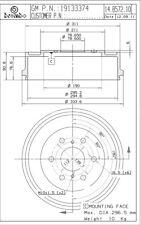 Brake Drum-Premium OE Equivalent Rear Brembo 14.B572.10