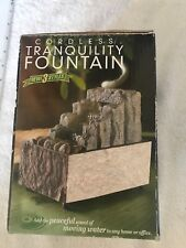 Brand New Cordless Tranquility Fountain Faux Stone Finish Multi-Colored Rocks