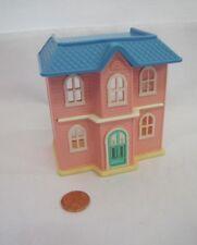 LITTLE TIKES Miniature VICTORIAN PLAY HOUSE DOLLHOUSE Pink/Blue Replica Rare!