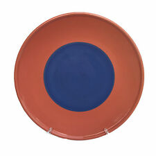 "Lindt Stymeist Colorways Blue Salmon Chop Plate 14"" Round Platter Charger"