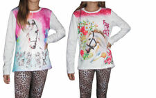 Vêtements t-shirts manches longues en polyester pour fille de 2 à 16 ans