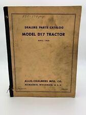 Allis Chalmers Dealer Parts Catalog Model D17 Tractor Book 1960 19-2685AM