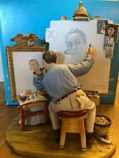 "Norman Rockwell Figurine ""Self-Portrait"""