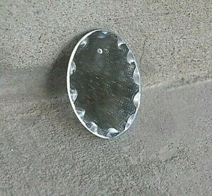 lot 12 anciennes pampilles pendeloques en miroirs biseautés ciselés RARE ovales