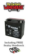 YTX14-BS Genuine Yuasa Motorcycle ATV Quad Buggy Battery With Acid Included