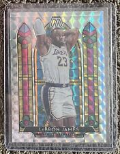 2019-20 Panini Mosaic Stained Glass Prizm #3 LeBron James Los Angeles Lakers