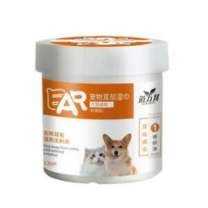 Pet Ear Wipes Dog Cat Earwax Clean Ears Odor Remover Pets Cleaning Wet Wipe